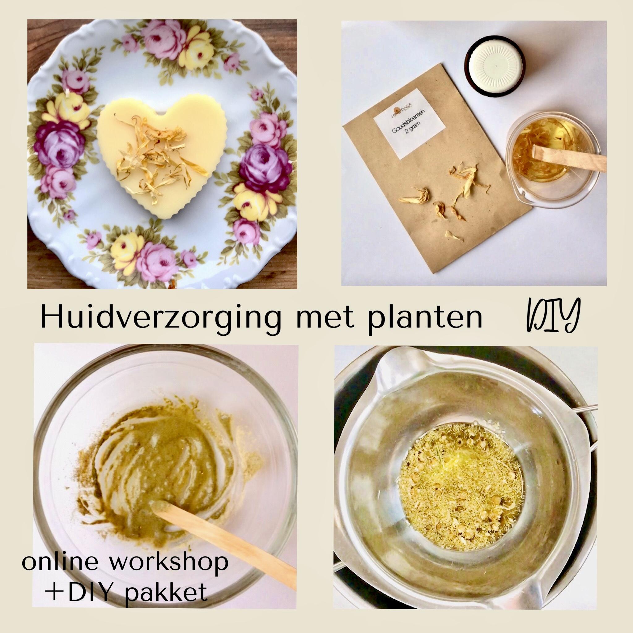 online workshop huidverzorging met planten